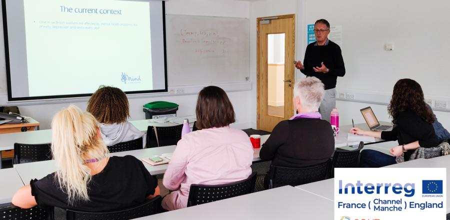 PONToon partners learn about mental health awareness at the University of Portsmouth