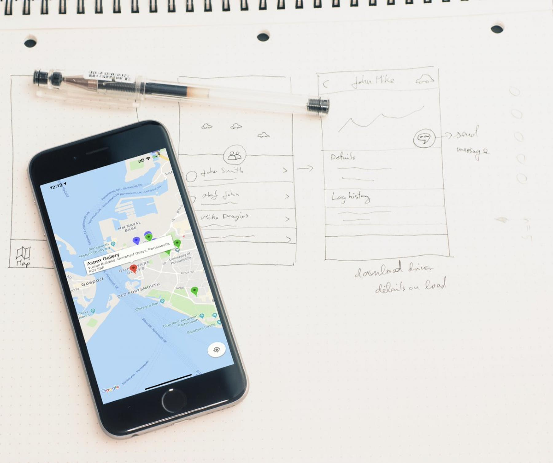 The PONToon mapping app, created by App Developer TinRaven